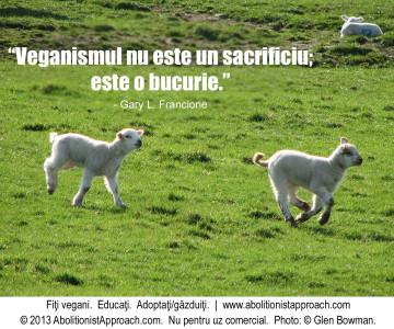 Veganismul nu este un sacrificiu; este o bucurie.
