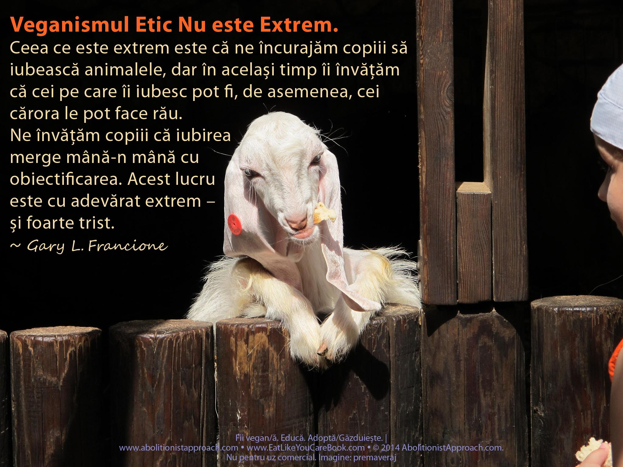 Veganismul Etic Nu este Extrem